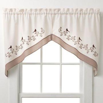 CHF Bird Swag Curtain Pair