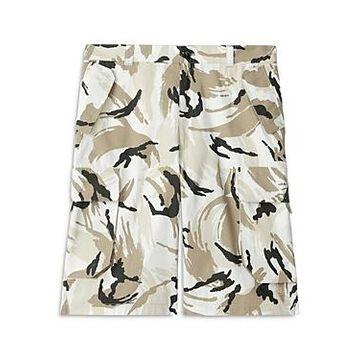 Kenzo Paintbrush Print Cargo Shorts