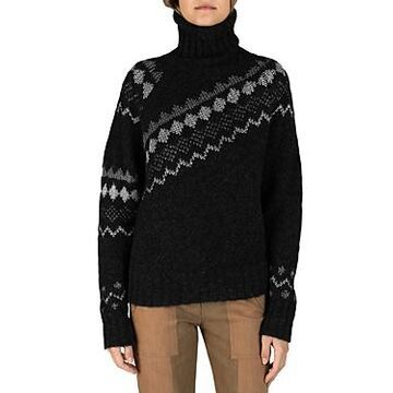 Derek Lam 10 Crosby Grammer Diagonal Turtleneck Sweater