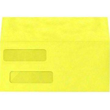 Double Window Invoice Envelopes (4 1/8 x 9 1/8) - Citrus (500 Qty.)