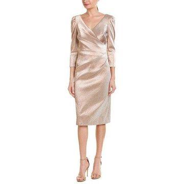 Theia Womens Sheath Dress