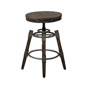 Liberty Pineville Saw Mark Distressed Adjustable Barstool (Set of 2)
