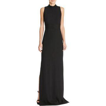 Aidan Mattox Women's Formal Dress Silk Crepe Black