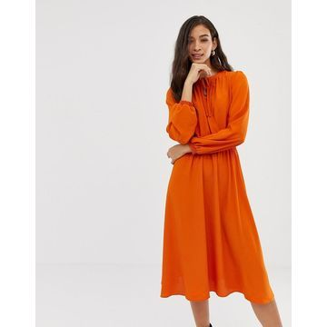 Vila keyhole wrap front midi dress