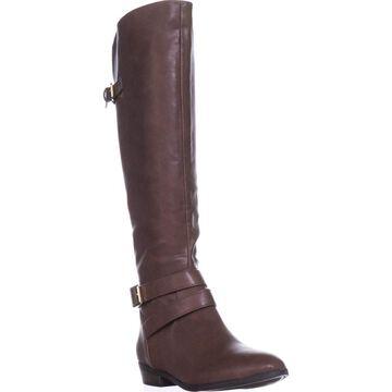 Material Girl Womens Carleigh Almond Toe Knee High Fashion