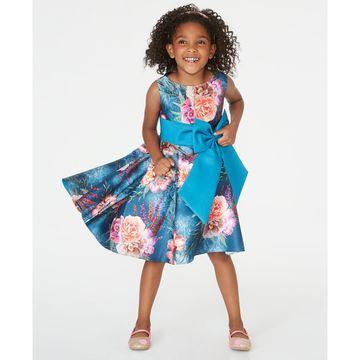 Toddler Girls Floral-Print High-Low Dress