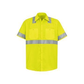 Red Kap Short-Sleeve High-Visibility Shirt