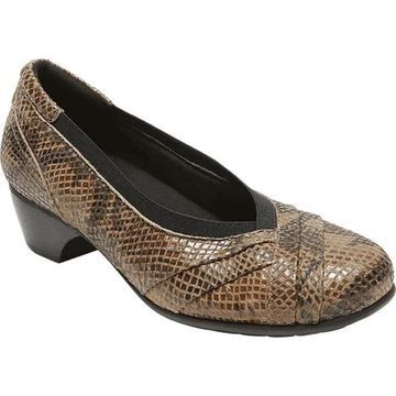 Aravon Women's Patsy Taupe Snake Leather