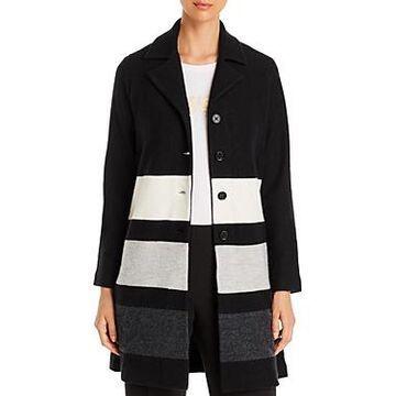 Karl Lagerfeld Paris Striped Button-Front Cardigan