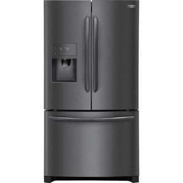 Frigidaire Gallery 26.8-cu ft French Door Refrigerator with Ice Maker (Fingerprint-Resistant Black Stainless Steel Black Stainless Steel) ENERGY STAR