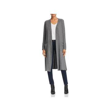 Three Dots Womens Cardigan Sweater Fleece Open Front