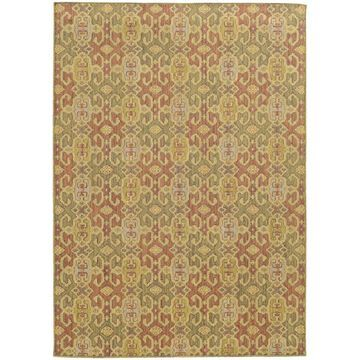 Style Haven Portico Traditions Pink/Green Indoor/Outdoor Area Rug (3'10 x 5'5) - 3'10