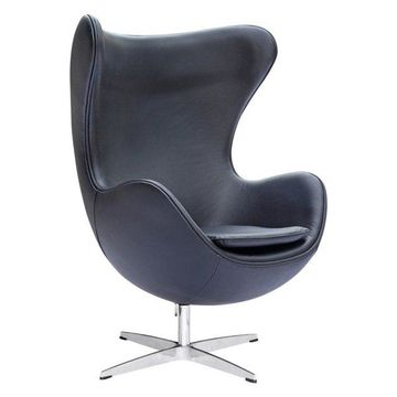 Fine Mod Imports Inner Leather Chair, Black
