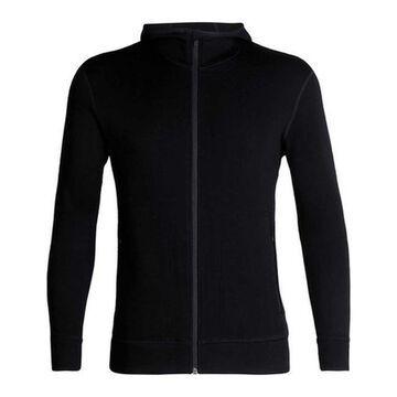 Icebreaker Men's Elemental Long Sleeve Zip Hoodie Black