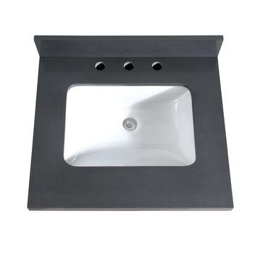 Avanity 25 in. Quartz Vanity Top with Rectangular Undermount Sink