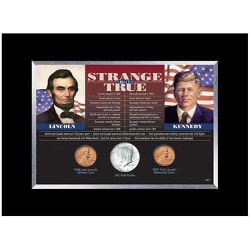 American Coin Treasures Strange But True Framed Coins