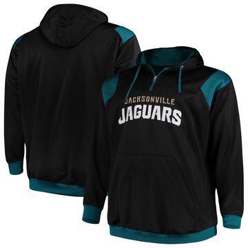 Men's Majestic Black Jacksonville Jaguars Big & Tall 1/4-Zip Pullover Hoodie