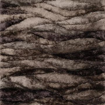 Loloi Rugs Glamour Shag Collection Peppercorn, 5'x7'6