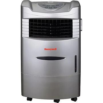 Honeywell CL201AE 42 Pint Indoor Portable Evaporative Air Cooler With Remote Control, Silver