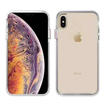 Pelican Ambassador Slim & Stylish Case for iPhone Xs Max - Clear/White/Rose Gold