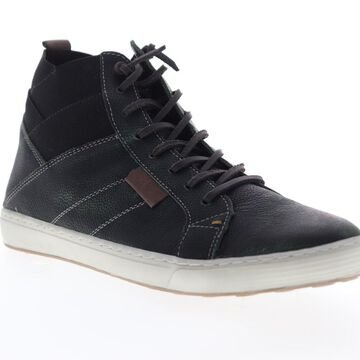 GBX Omni Mens Black Leather Lace Up High Top Sneakers Shoes