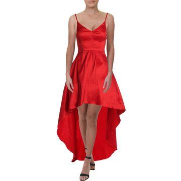 Betsy & Adam Womens Satin Hi-Low Formal Dress