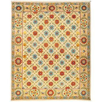 Solo Rugs One-of-a-kind Suzani Hand-knotted Area Rug 8' x 10'