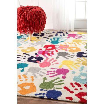 nuLoom Pinkie Handprint Rug