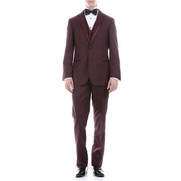 Ferrecci Celio Notch Lapel with Satin Trim Slim Fit 3pc Tuxedo