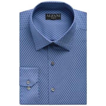 Alfani Men's Slim-Fit Honeycomb Dot-Print Dress Shirt, Created for Macy's