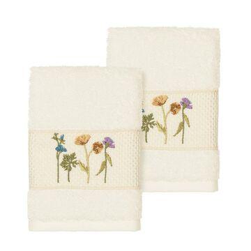 Linum Home Textiles Serenity Embellished Washcloth Set