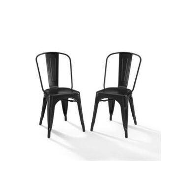 "Crosley Amelia 2 Piece 17"" Metal Chair"