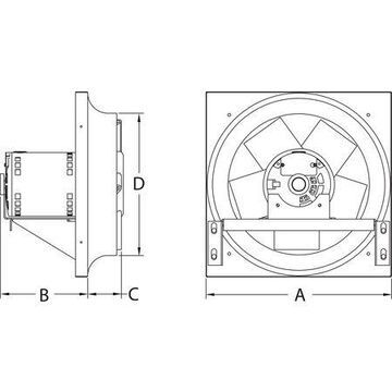 DAYTON 10D983 Exhaust Fan,16 In,115/230V