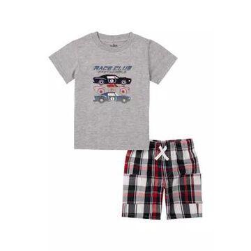 Kids Headquarters Boys' Boys 4-7 Race Club T-Shirt And Shorts Set - -