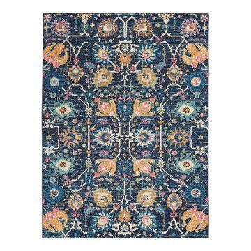 Nourison Passion Colorful Bohemian Rug, Blue, 2X7.5 Ft