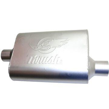 D2217651 Dynomax Muffler, made of aluminized steel dynomax thrush welded natural