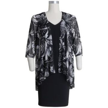 Connected Plus Size Printed Jacket Dress
