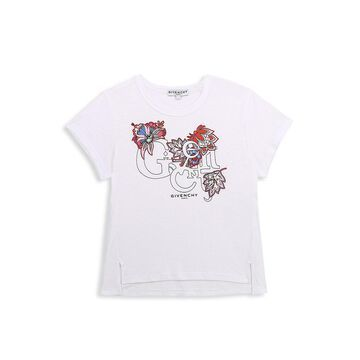 Givenchy Little Girl's & Girl's Floral Logo Graphic T-Shirt