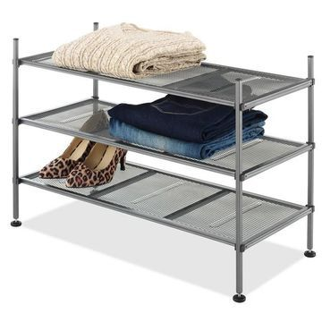 Whitmor 3-Shelf Mesh Unit