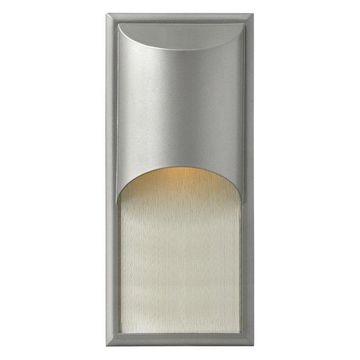 Hinkley Lighting Cascade 1-Light Outdoor Wall Lantern, Titanium