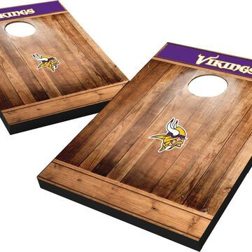 Wild Sports Minnesota Vikings Brown Wood Tailgate Toss