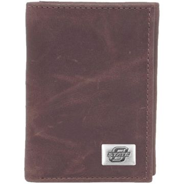 Oklahoma State Cowboys Leather Concho Trifold Wallet