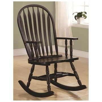 Traditional Wood Rocker in Cappuccino by Coaster