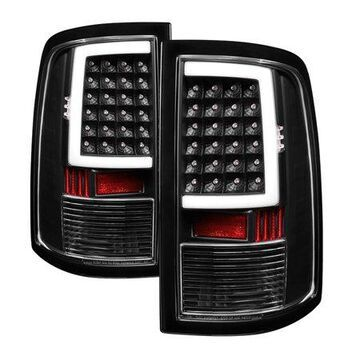 Spyder Auto 5082206 XTune Light Bar LED Tail Lights; Incandescent Model Only; Not Compatible w/LED Model; Black;