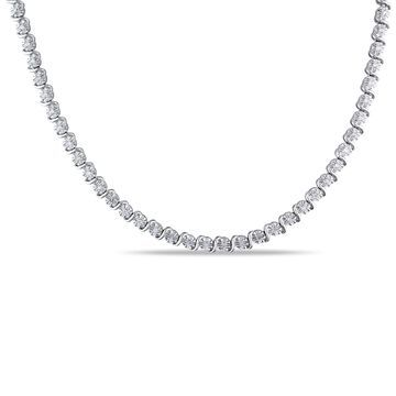 Miadora Sterling Silver 1/2ct TDW Diamond Necklace