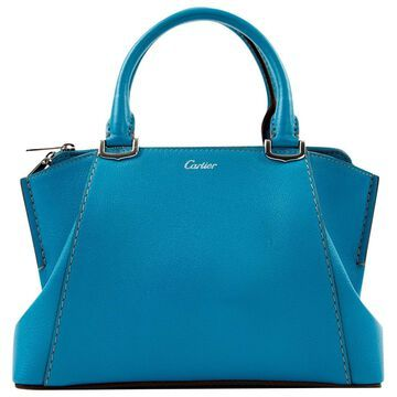 Cartier C Blue Leather Handbag