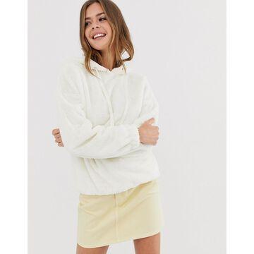 New Look textured hoody in cream