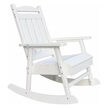 Pemberly Row Eco Friendly Rocking Chair in White