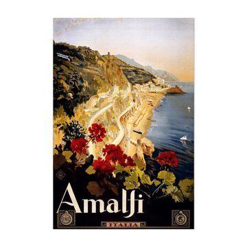 Noir Gallery Amalfi, Italy Travel Poster Unframed Art Print/Poster