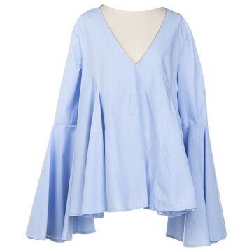 Ellery Blue Cotton Tops